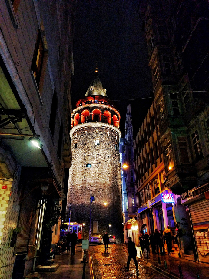 Galata Tower, just residuals