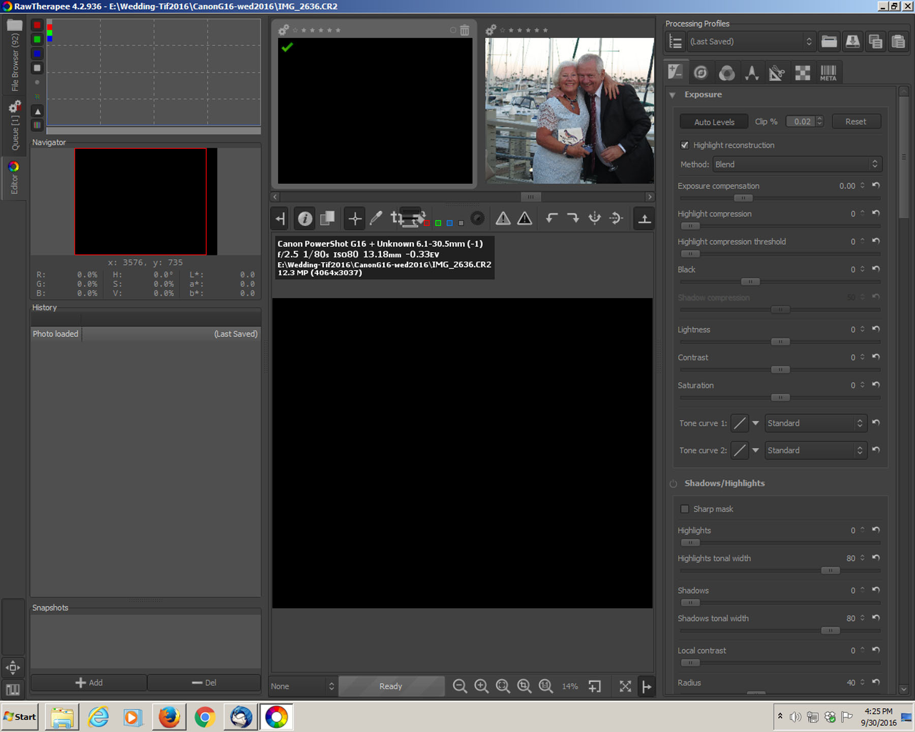 how to set 16 bit in canon 550d